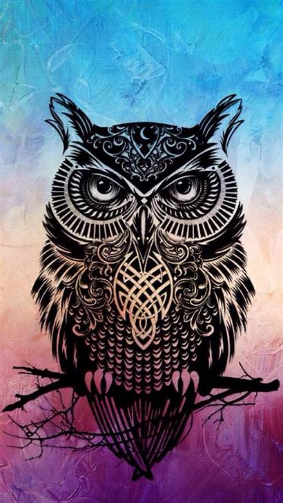 Owl Iphone Wallpapers Background Tribal Tattoo Owls