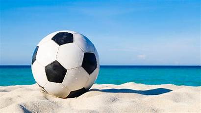 Soccer Football Ball Sand 4k Uhd