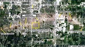 Google Maps  Joplin Tornado Damage