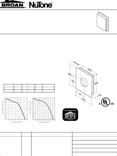 Broan Ventilation Hood 331H User Guide | ManualsOnline.com