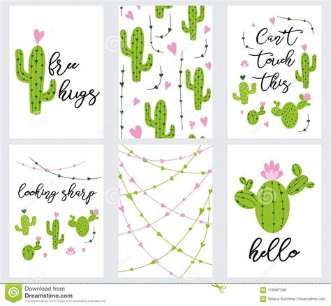set cute ready   gift tags  cactus printable
