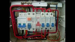 Main Double Pole Cb Installation And Db Maintenance
