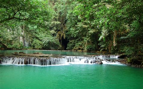 thailand beautiful waterfall   river