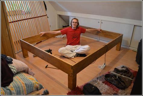 Bett Selbst Bauen Anleitung  Betten  House Und Dekor