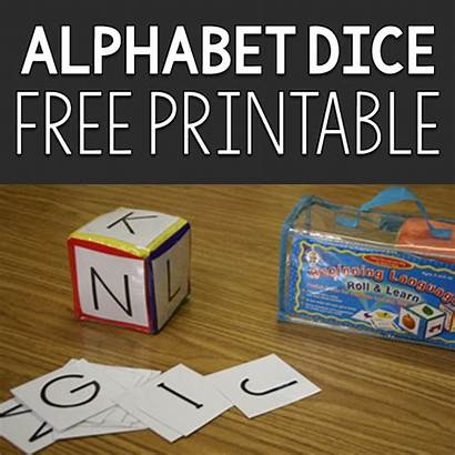 Dice Alphabet Prekinders Printable Letter Games Pre
