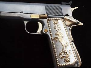 1911 Grips 45 Colt With Rearing Colt Pony