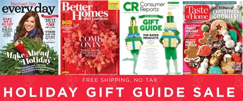 last day holiday gift magazine sale