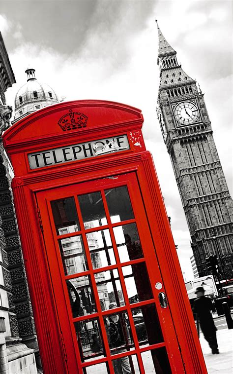 suspension chambre phone poster cabine téléphonique londres