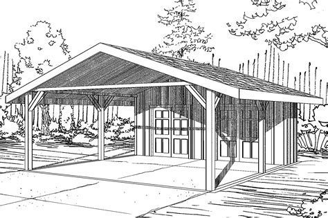 Traditional House Plans   Carport 20 094   Associated Designs