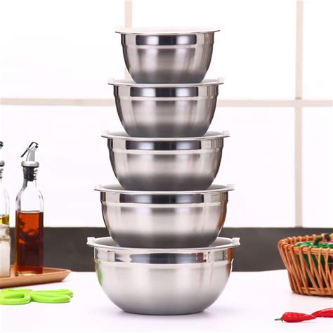 ingredients standby bowls mixing bowl stainless steel diy
