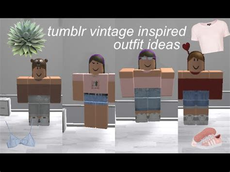 Tumblr vintage inspired outfits | roblox - YouTube