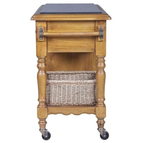 kitchen trolleys and islands hton granite top kitchen island trolley in honey buy 6334