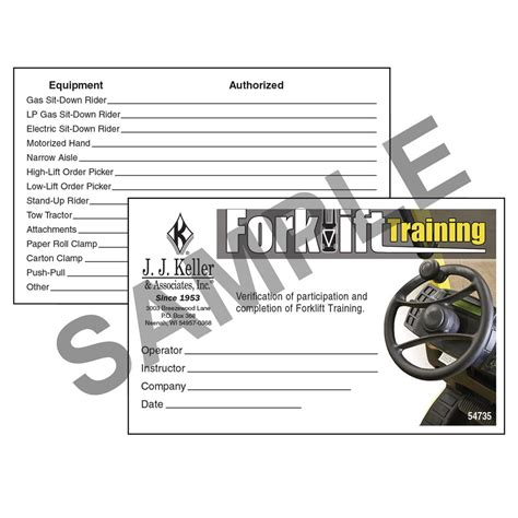 There are two broad categories of information about free online forklift training, regulatory and practical. Free Printable Forklift Certification Cards That are Terrible | Regina Blog