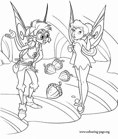 Coloring Tinkerbell Pages Friends Tinker Bell