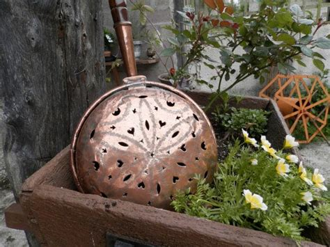 antique french copper pan antique copper bed warmer french shabby chic vintage copper pan