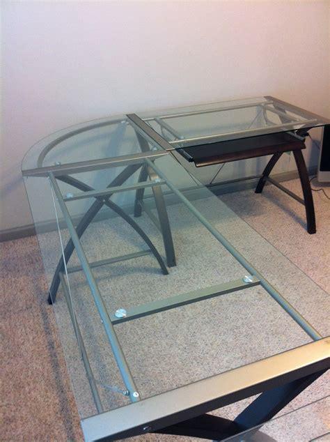 officemax sharper image glass desk sharper image glass desks starting at 175 stuff for sale