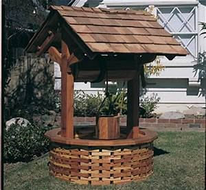 Structure Woodworking Plans - Large Wishing Well Wood