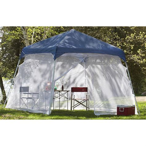 canopy with screen texsport 174 10x10 pop up canopy with screen attachment