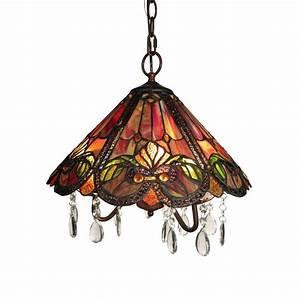 America light bronze indoor red tiffany style hanging
