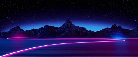 Retro Neon Wallpaper Pc by Retro Style Synthwave Neon Wallpapers Hd Desktop And