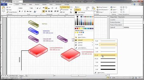 visio  campus network physical diagram part  add