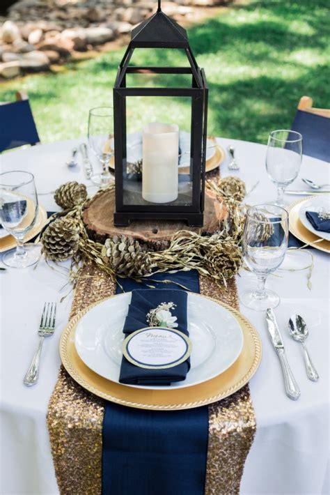 navy  gold wedding inspiration bride link