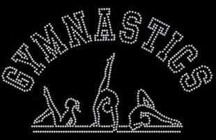large gift bags gymnastics hoodie with rhinestone logo