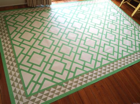 Diy Dining Room Area Rug {painted Linoleum!} Reality