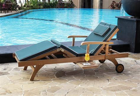 bedford teak sun lounger with cushion casa bella