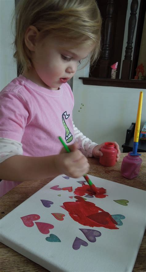 Heart Sticker Resist Painting Play Dr Mom