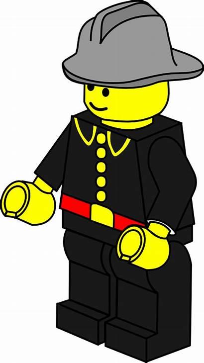 Firefighter Lego Clip Fireman Clipart Svg Silhouette
