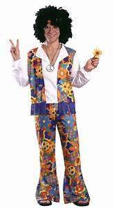 Menu0026#39;s 60s Hippie Costume - Adult Costumes