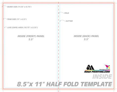 a4 half fold card template printing company inc 8 5 x 11 half fold brochure
