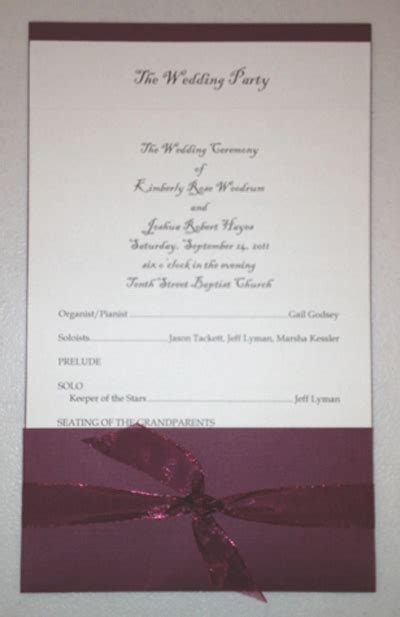 layered pocket wedding program template