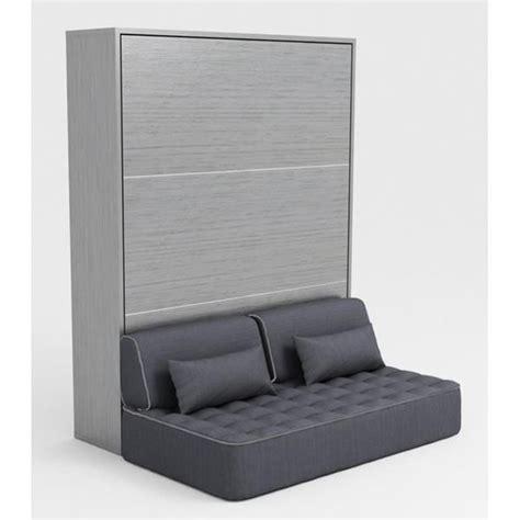 armoire lit escamotable 140x200 gris canap 233 achat vente lit escamotable pas cher