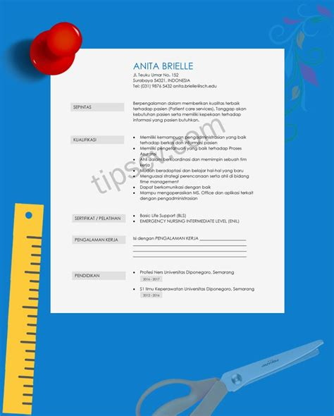 template cv kreatif format   siap pakai