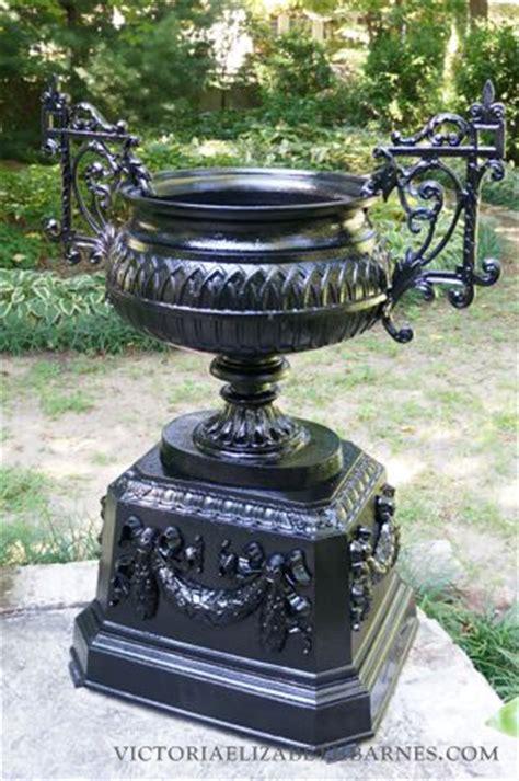 antique garden urn restoration latex mold  duplicate