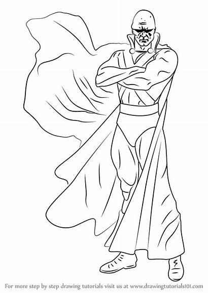 Martian Manhunter Draw Coloring Step Drawing Dc