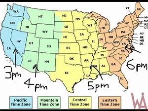 Pst To Est Chart Time Zone Map Of The Usa With Time Different Whatsanswer