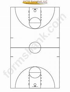 Full Court Basketball Diagram Template Printable Pdf Download