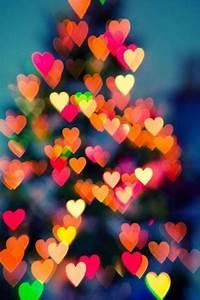 Download Colors Bokeh Hearts iPhone Wallpaper Mobile