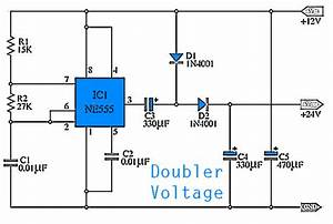 Simple Doubler Voltage 12 To 24volt Dc