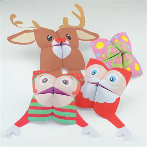 printable christmas cootie catchers