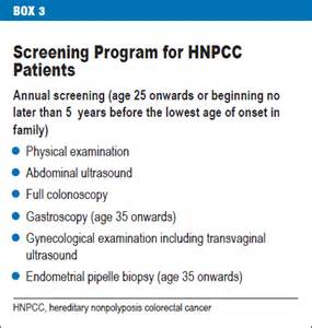 ... Hereditary Nonpolyposis Colorectal Cancer (HNPCC)/Lynch Syndrome (18 Hereditary nonpolyposis colorectal cancer