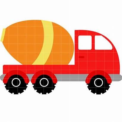 Truck Cement Clipart Clip Cliparts Pickup Attribution