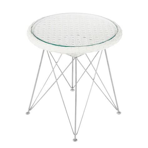 table de jardin tress 233 e en aluminium et m 233 tal blanche d 50
