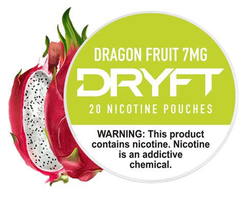 dryft 7mg fruit dragon nicotine pouches dry mini