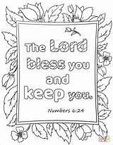 Coloring Lord Bless Keep Pages Trust Bible Verse Am Jesus Printable Afraid Whenever Name Prayer Sheets Template Wait Preschool Templates sketch template