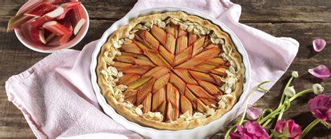 dekorative mandel rhabarber tarte rezept tante fanny