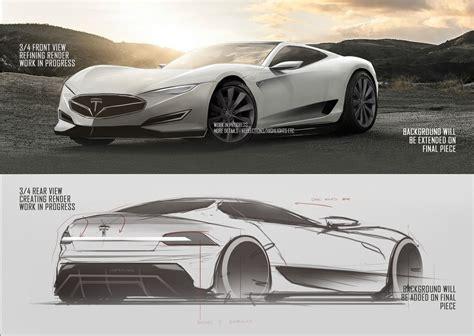 tesla model  hypercar concept design sketches carwow